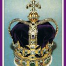 Vintage 1967 Postcard St. Edward's Crown Of England King Charles II