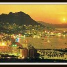 Vintage Postcard Evening in Hong Kong Central Eastern Districts 1950s