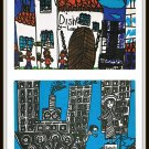 Vintage Postcards 1976 Disneyland & Statue Of Liberty Drawing Contest For Austrian Children SOS