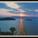 Greek Vintage Postcard Greece Dreamy Sunset 1980s