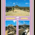 Vintage Postcard Greetings From Aruba Casibari Gardens 1980s