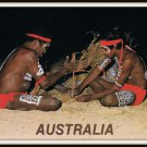 Large Vintage Postcard Australia Aborigines Ancient Art Fire Making