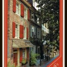 Vintage Postcard Elfreth's Alley Philadelphia Pennsylvania Oldest Street in The U.S. 1970s