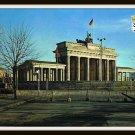 Vintage Postcard Berlin Germany The Brandenburg Gate 1961