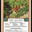 Vintage Postcard Chili Recipes