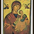 Vintage Postcard Patmos Greece Virgin Mary Icon of The 17th Century Monastery of Saint John