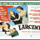 1948 Larceny Vintage 1989 Large Movie Poster Postcard From The Great Trash Films Shelley Winters