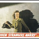 1944 When Strangers Marry Movie Poster Large Postcard From The Great Trash Films Vintage 1989