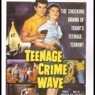 1955 Teenage Crime Wave Movie Poster Large Postcard From The Great Trash Films Vintage 1989