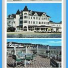 Large Vintage Postcard Iroquois On The Beach Mackinac Island 1980's Michigan