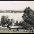 Vintage Postcard View Of Garbutt's Island Resort Lake Chetac Birchwood Wisconsin 1946