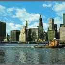 Vintage 1970s Postcard New York City Twin Towers World Trade Center