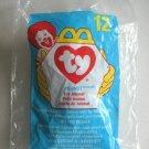 1998 Peanut The Light Blue Elephant Ty Teenie Beanie Baby #12 in Package Toy Animal McDonald's
