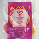 Strut The Rooster Ty Teenie Beanie Babie 1999 No. 7 McDonald's Toy Animal in Package