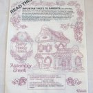 Manual Berry Happy Home Strawberry Shortcake Doll House Assembly Sheet