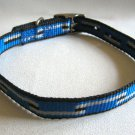 Dog Collar Blue Black Gray 18 Inch Pet Supplies