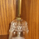 Vintage Large Crystal Glass FRIENDS Bell House of Lloyd 1989