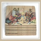 Set of 6 Hardboard Placemats Lap Trays Teddy Bears Planters Water Can Gardening Supplies