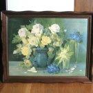 Vintage Print in Fancy Wood Frame Artist Rudolf Stoitzner Floral 23 x 18 Artwork Flowers