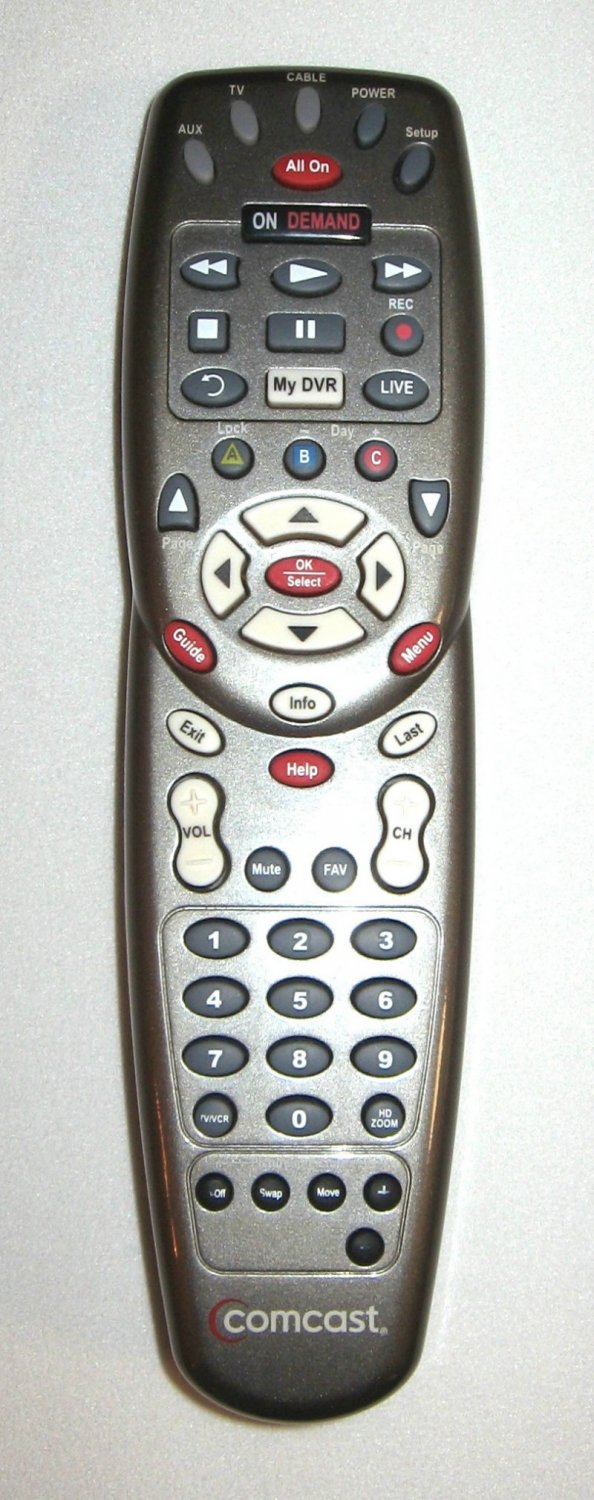COMCAST/XFINITY Custom DVR 3 Device Universal Remote ...