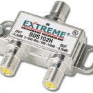 Extreme 2 Way HD Digital High Performance Coax Cable Splitter BDS102H