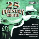 25 Country Greats Music CD Volume 2 Various Artists 25 Tracks