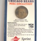 Mike Singletary Chicago Bears Coin Medallion Commemorative Bronze Medal NFL Football