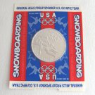 1998 USA Olympic Team NAGANO Japan Snowboarding Novelty Coin Sponsor General Mills