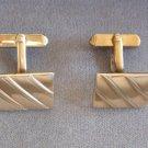 Gold Cufflinks By Designer Swank Retro Vintage 1950s
