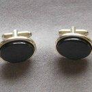 Black Onyx Cufflinks By Designer Shields Fifth Avenue Vintage 1950s