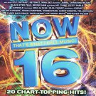 Now Thats What I call Music 16 CD 20 Hits Various Artists