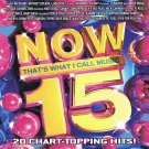 Now That's What I Call Music 15 CD By Various Artists 20 Hits