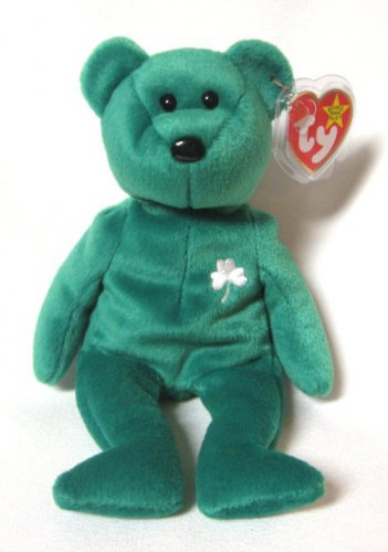 Erin The Green Irish Teddy Bear Ty Beanie Baby 1999 Retired Plush Toy  Collectible f27d8a2c3eb