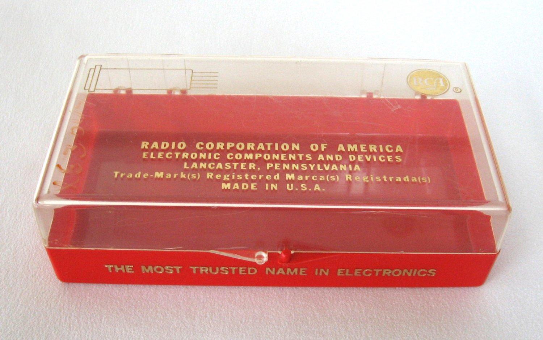 RCA Red Radio Corporation of America Plastic Container Vintage 1950s