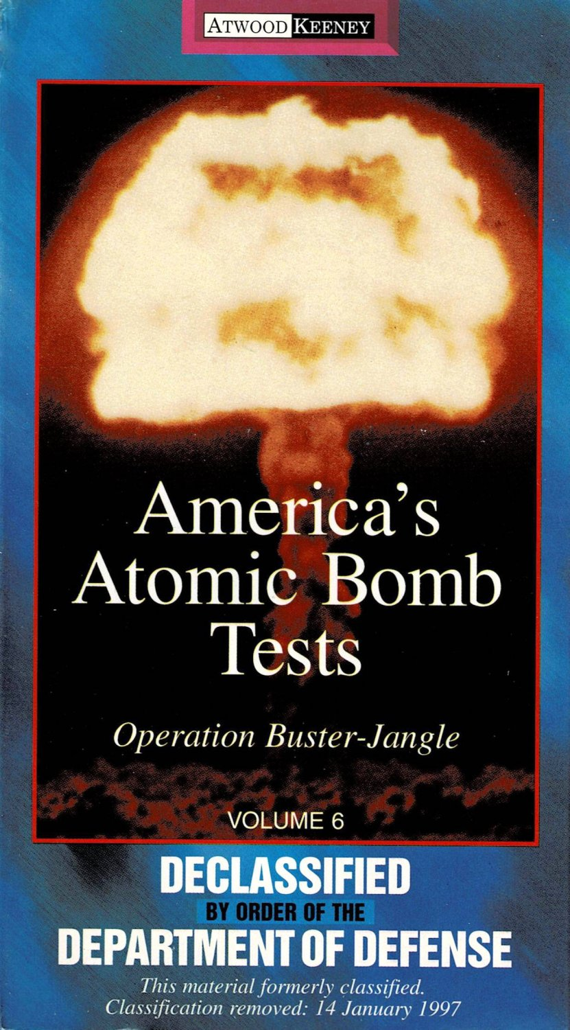 America's Atomic Bomb Tests Operation Buster Jangle Vol 6 VHS Video Documentary NEW