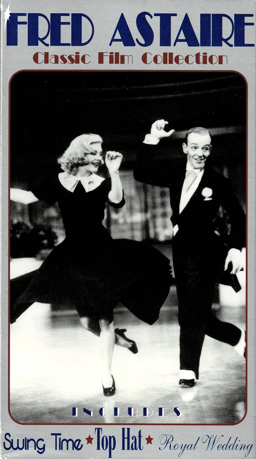 Fred Astaire Classic Film Collection Swing Time Top Hat Royal Wedding Movies 5 Hours VHS Video