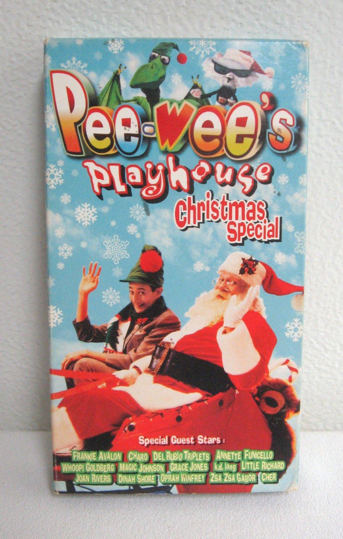 Pee Wee's Playhouse Christmas Special Whoopi Goldberg Joan Rivers Oprah & More VHS Video