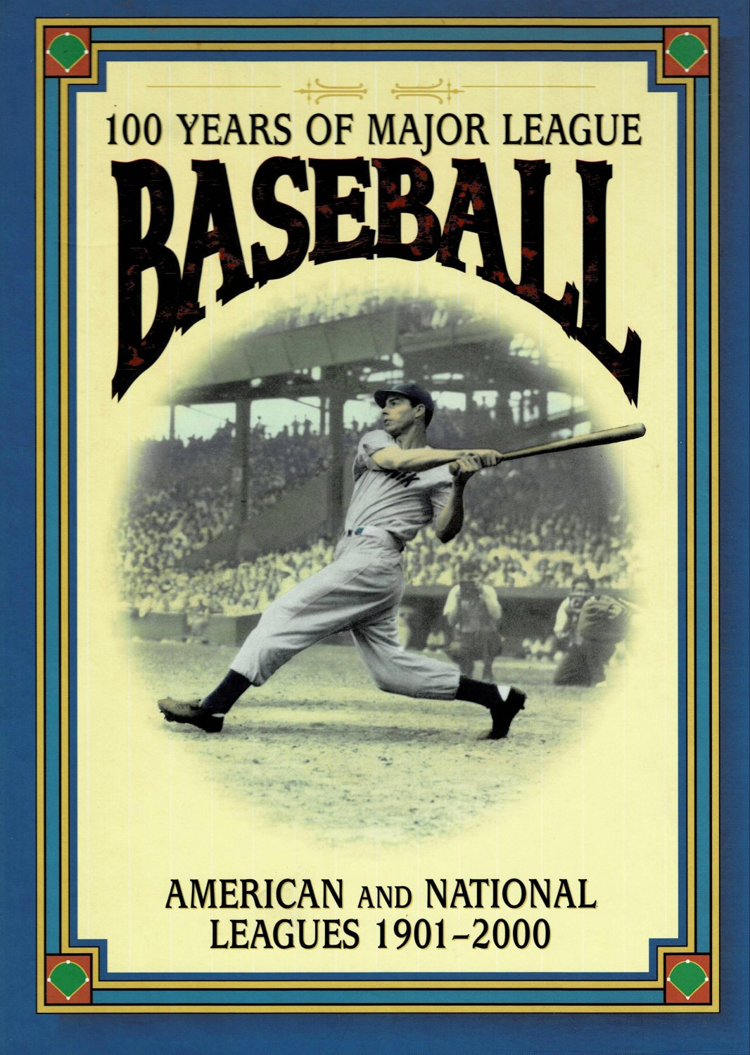 100 Years of Major League Baseball 1901-2000 By David Nemec Large Hardcover Book