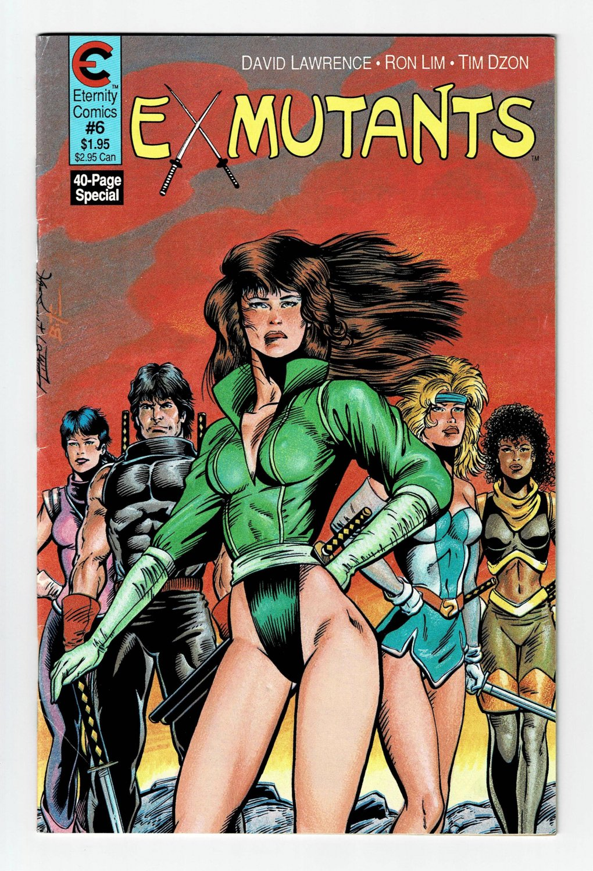 Ex Mutants No. 6 December Eternity Comic Book Vintage 1987