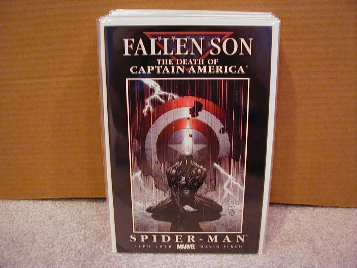 FALLEN SON THE DEATH OF CAPTAIN AMERICA SPIDER-MAN COVER B NM
