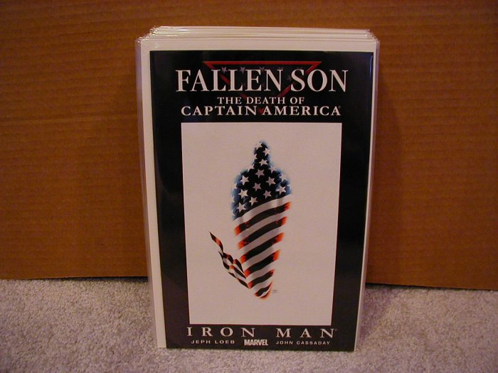 FALLEN SON THE DEATH OF CAPTAIN AMERICA IRON MAN COVER A NM