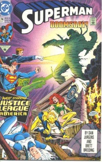 SUPERMAN #74 NM   DOOMSDAY