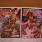 ONSLAUGHT REBORN #4 SET OF BOTH 1ST PRINTINGS NM   REGULAR AND VARIANT COVERS