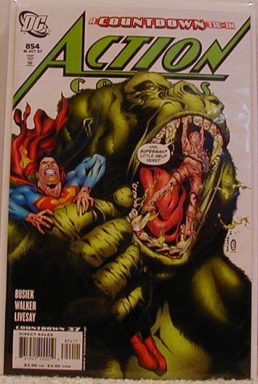 ACTION COMICS #854 NM  THIS ONE COULD BE A HOT ONE!!