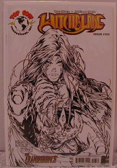 WITCHBLADE #103 BLACK AND WHITE TURNER D-TRON VARIANT COVER  NM