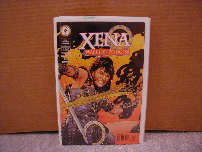 "XENA WARRIOR PRINCESS #3 NM DARK HORSE SERIES  ""B"" COVER"