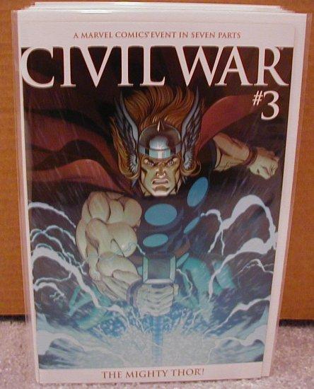 CIVIL WAR #3 SECRET THOR COVER VARIANT NM