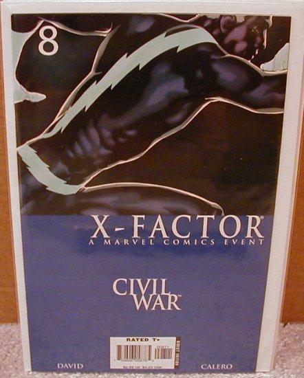X-FACTOR #8 NM (2006) CIVIL WAR