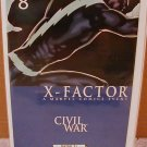 X-FACTOR #8 NM (2006) CIVIL WAR