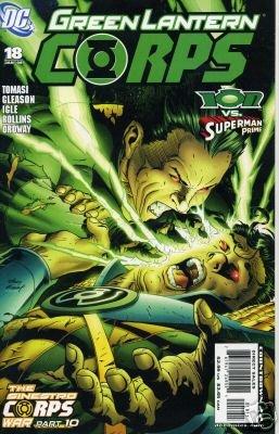GREEN LANTERN CORPS #18 NM (2007)SINESTRO WAR PART 10  ION VS SUPERMAN PRIME